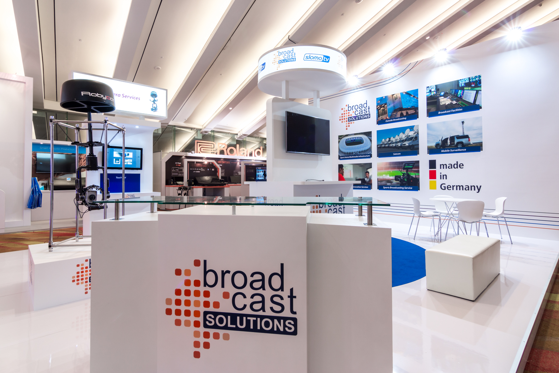 Exhibition Booth Singapore : Broadcast solutions exhibition booth punktlandung events