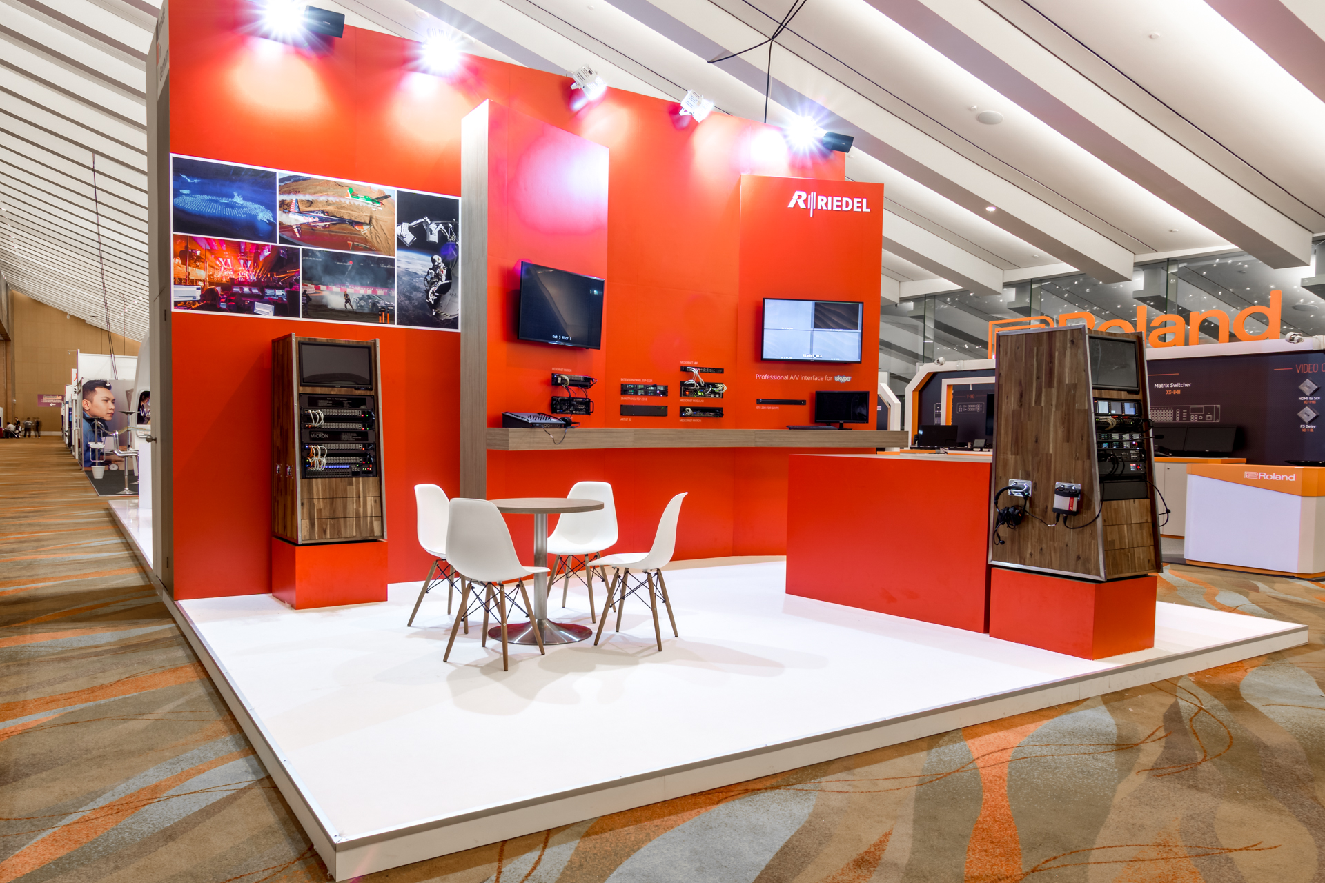 Exhibition Booth Design Singapore : Riedel exhibition booth punktlandung events exhibitions