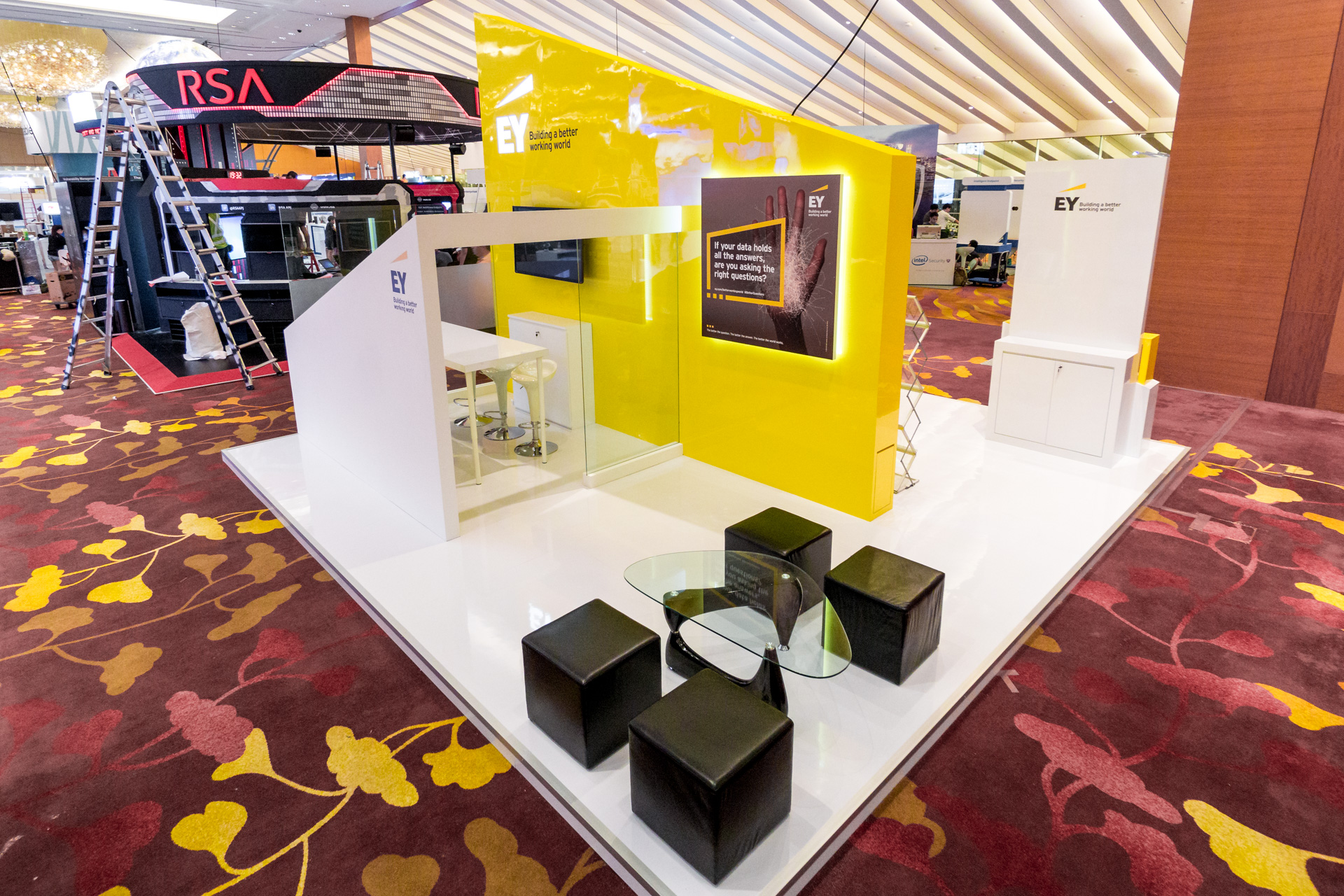 Marketing Exhibition Stand List : Ey exhibition booth punktlandung events exhibitions