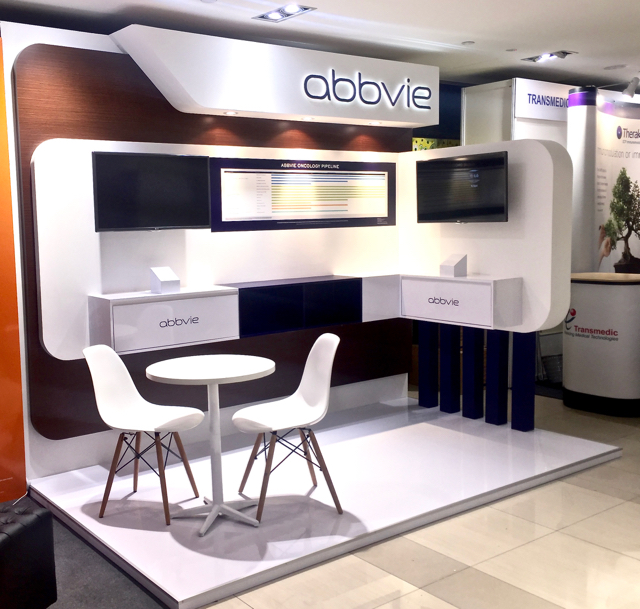 Exhibition Stand Contractor : Abbvie exhibition booth punktlandung events exhibitions