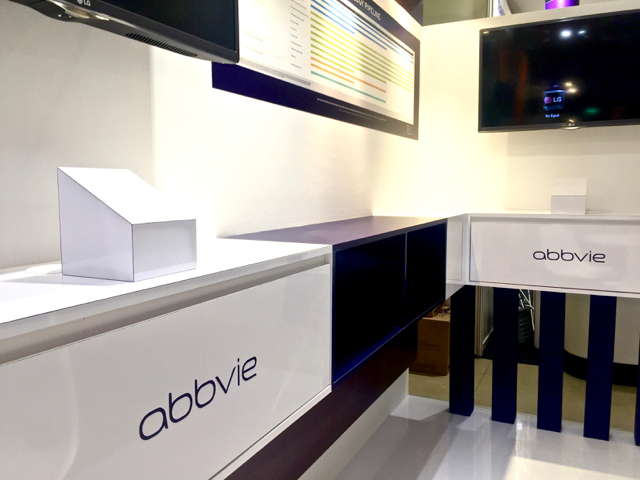Exhibition Stand Singapore : Abbvie exhibition booth punktlandung events exhibitions